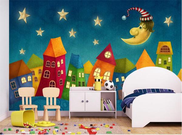 Custom Wall Paper Cartoon Children Castle 3D Wall Murals Kids Bedroom Eco-Friendly Non-Woven Photo Wallpaper Murales De Pared 3D