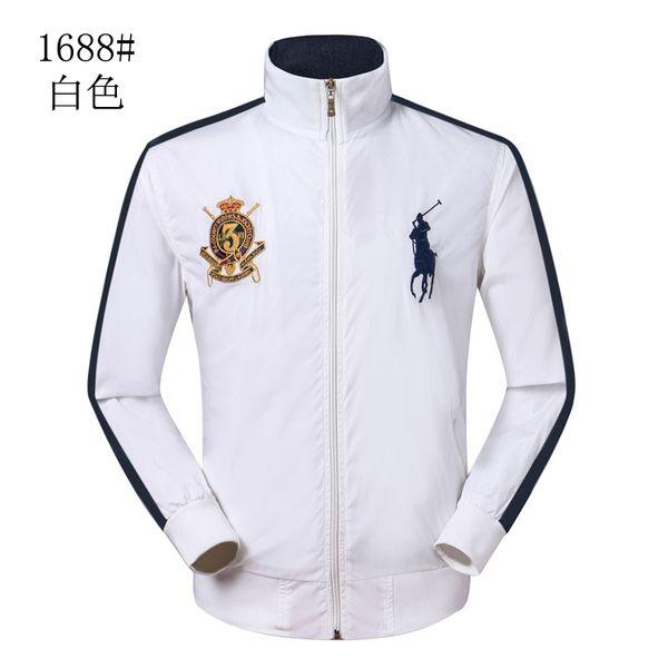 A estrenar 100% de alta calidad de la moda de los hombres de la chaqueta del collar del soporte de la venta caliente estilo clásico caballo logo ocio chaqueta abrigo envío gratis