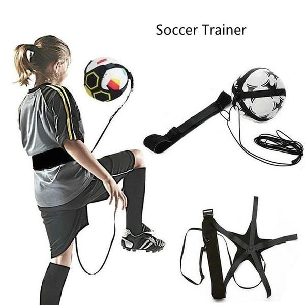 best selling Soccer Ball Juggle Bags Children Auxiliary Circling Belt Kids Football Training Equipment Kick Solo Soccer Trainer Football Kick Juggle Bag