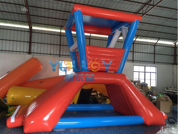 Top qualidade inflável brinquedos de água vida torre de guarda inflável casa flutuante em produtos de CE do mar ROHS