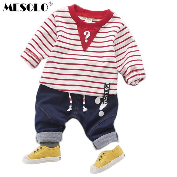 good quality clothes Private label jeans suit stripe unlined upper garment of cotton han edition children's clothing a undertakes C1