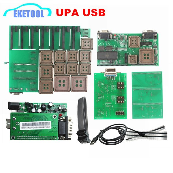 Auto Serial Programmer Adapters UPA USB V1.3 SW 1.3.0.14 r2 Green Adapter Best Quality EEPROM ECU Tuning Tool UUPROG V1.3