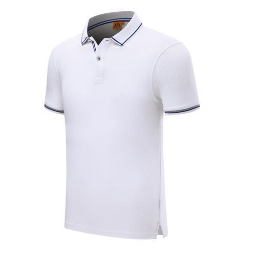 2019 new summer fashion button string webbing short-sleeved uniform T-shirt white Mens and Women POLO SD-1898-267