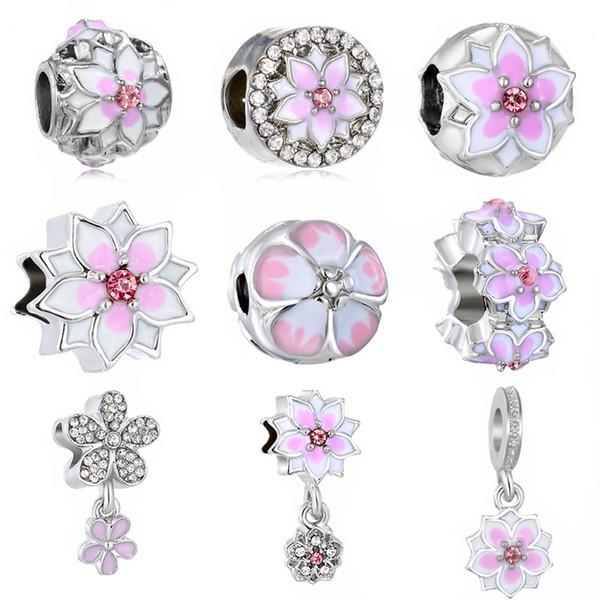 Mélanger Style Grand Trou Perles En Vrac Charme Pour Pandora DIY Bijoux Bracelet Pour Européenne Bracelets Femmes Bijoux