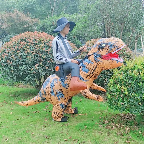 Habillement gonflable de dinosaure d'équitation Dragon demi-longueur pantalon de vêtements gonflables mascotte Tyrannosaurus Cartoon Bas du corps vêtements Uni