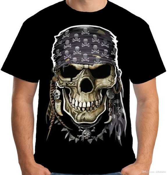 Velocitee Mens Hoodie Evil Pirate Skull A17986