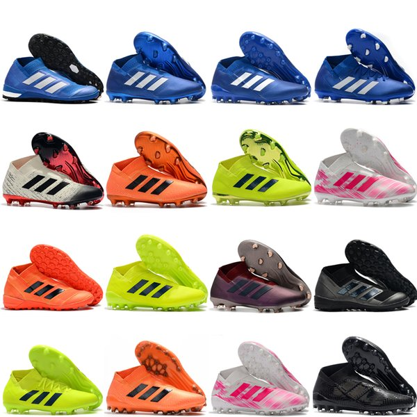 2019 top quality new arrival soccer shoes mens soccer cleats Nemeziz 18+ AG FG indoor football boots Nemeziz Messi 18 chuteiras