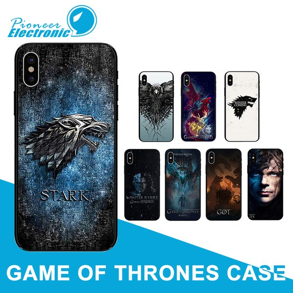 Game Thrones Case Daenerys Silicone Phone Back Cover Dragon Jon Snow tyrion lannister Colorful for iPhone 8 7 6 6S Plus X XS max SE XR cases