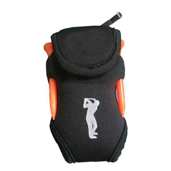 Multifunzione portatile in neoprene 4 tees e 2 porta palline Supporto in vita Attrezzo sportivo esterno Palle Accessori