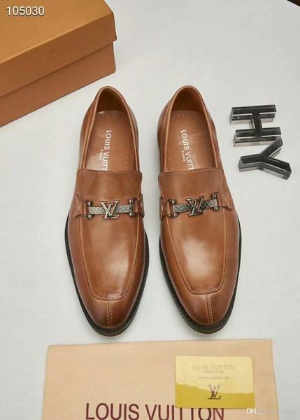 Iduzi Newast Luxury designer de mode pour hommes chaussures en cuir impression chaussures plates formelles bouton en métal Peas occasionnels chaussures baskets haute qualité