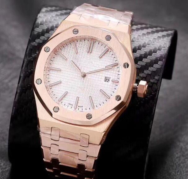 2019 nuevos hombres miran Atrás reloj abierto hombres 40mm 2 puntero Oro rosa Automático mecánico de acero inoxidable reloj hombres envío gratis