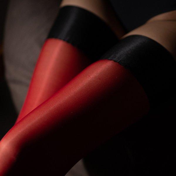 black Red Silk-One Size