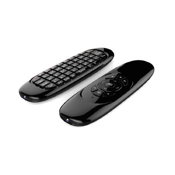 Все в одном 2.4G аккумуляторная беспроводная мышь Пульт дистанционного управления Клавиатура Совместимо для Android TV Box Компьютер Английская версия