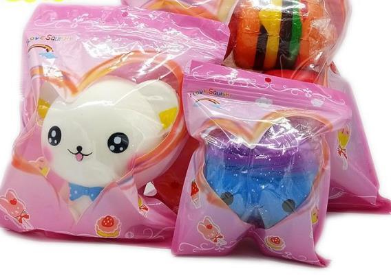 200pcs sacchetti del opp di prodotto squishy rosa blu S M L SIZE sacchetto di pacchetti squishy vendita al dettaglio per sacchetti di opp prodotto lenta crescita all'ingrosso
