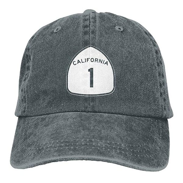 2019 New Cheap Baseball Caps Mens Cotton Washed Twill Baseball Cap California State Highway Route 1 Sign Hat