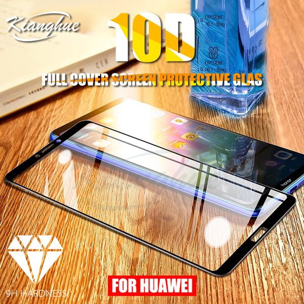 10D Full Cover Protective Glass For Huawei Honor 8X Max 8 9 10 Lite V8 V9 V10 9H Tempered Glass Screen Protector Protection Film