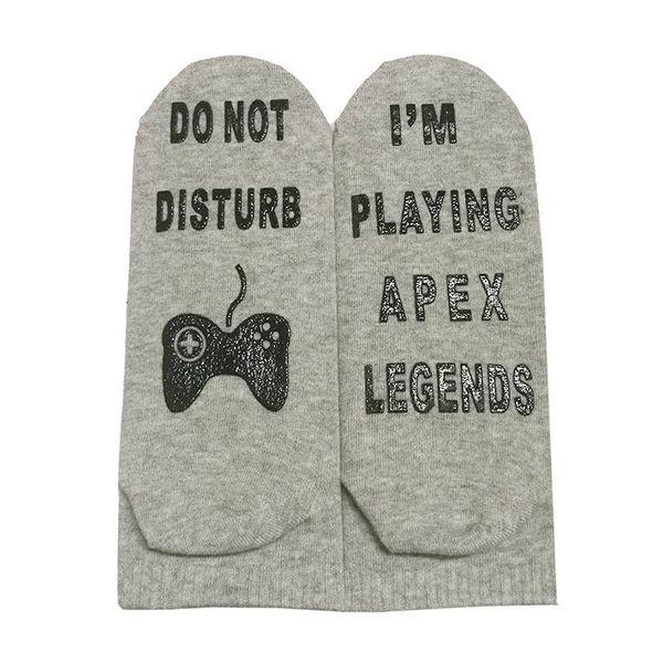 Neu spiele ich APEX LEGENDS Brief Socken 7 Arten große Kinder Studenten Teenager Männer Baumwollknöchelsocken Sportsocken durch DHL AA1924 Schiff frei