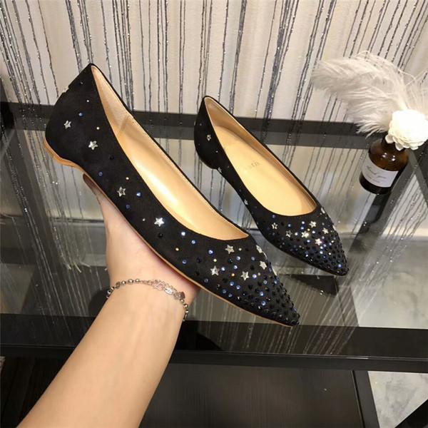2018 Yeni Stil Marka Deri Bayan Düğün Spike Ayakkabı Pompalar Fransız Tarzı Spiky Resmi Sivri Örgün Düğün Ayakkabı
