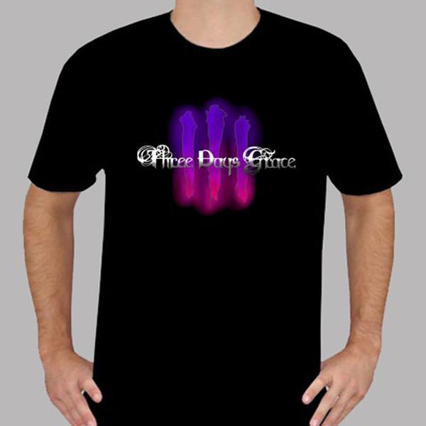 New Three Days Grace *III Logo Rock Band Men's Black T-Shirt Size S to 3XL Brand Shirts Jeans Print Denim Clothes Camiseta T Shirt
