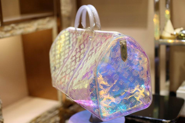 Novo estilo de Alta qualidade dos homens de luxo designer de viagem saco de bagagem dos homens totes keepall bolsa de couro duffle bag marca de moda designer de luxo saco