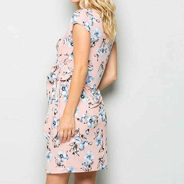 Frauen Mutterschaft Kleider Schwangerschaft Frenulum ärmellose Print Floral Rüschen Stillkleid Stillen Kleidung Hamile Elbise