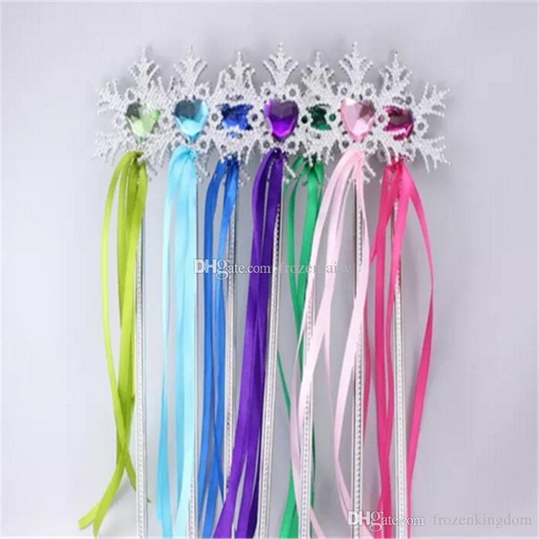 Fairy Wand ribbons streamers Christmas wedding party snowflake gem sticks magic wands confetti party props decoration events favors Supplies