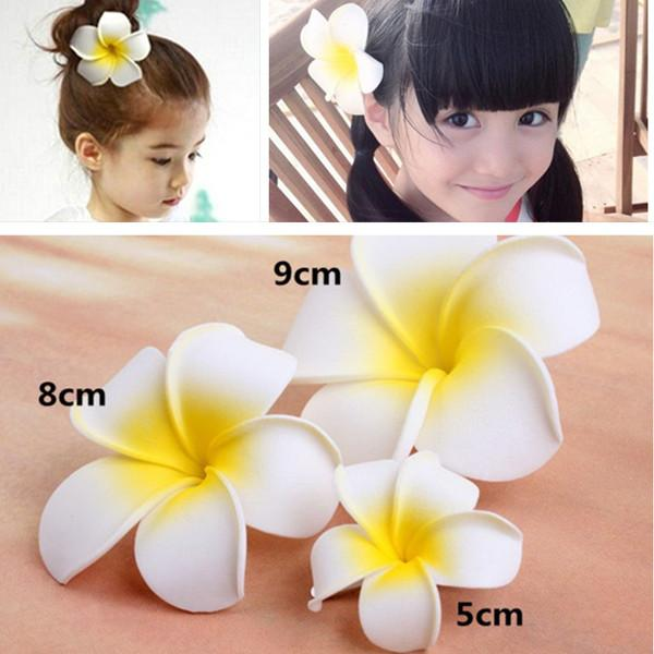 top popular Flower Hair Accessories For Women Girls Bali Frangipani Wedding Hair Clips Korea Jewelry Korean Bridesmaid Accessories Hairpin Hair Clips 2019