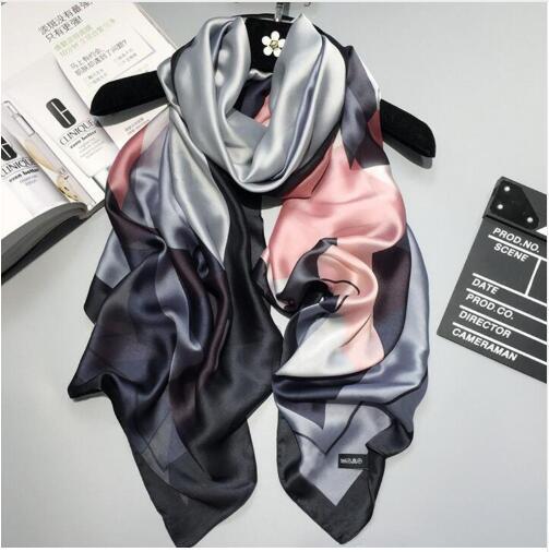 2019 luxury Women Silk scarf Beach Shawl and Echarpe summer Wrap Designer scarves Plus Size female beach stoles bandana