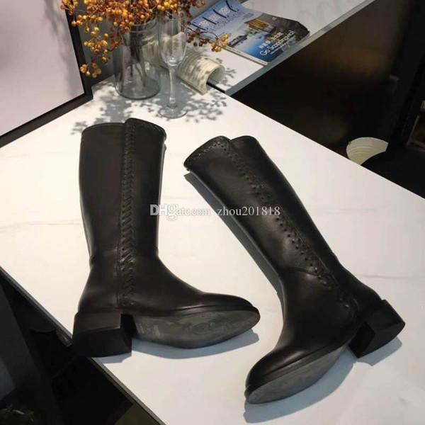 2018 patlamalar, sonbahar ve kış, bayan botları, sıska deri, ithal deri çizmeler, 15cm tam boy, boyut 35-40
