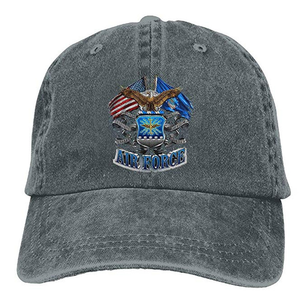 2019 New Wholesale Baseball Caps Print Hat High Mens Cotton Washed Twill Baseball Cap AIR Force Eagle Patriotic Decals Hat
