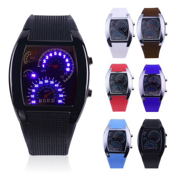 best selling Fashion Race Watch Men Sport Watches Led Display Race Speed Car Meter Dial Military Watches man military digital Dashboard watch