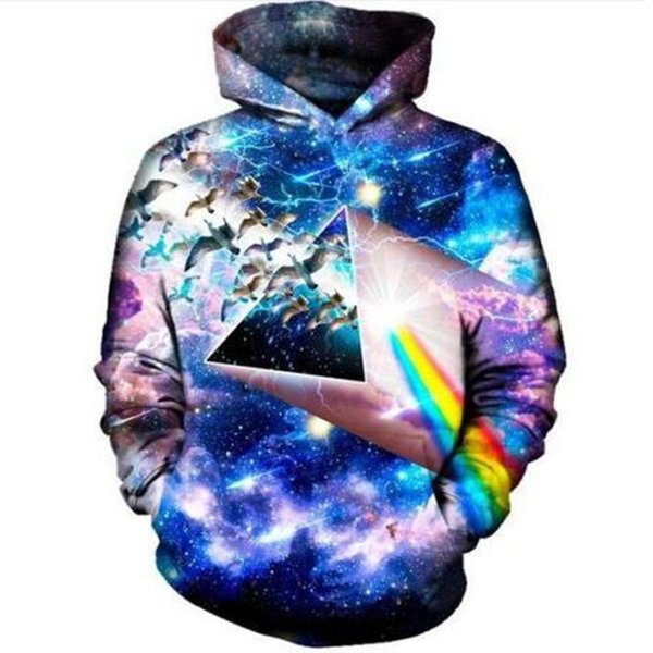 Newest Fashion Birds Fly In Space Galaxy Harajuku 3D Print Hoodies Fashion Clothing Women/Men Fashion 3D Hoodiest Casual Pullovers Top K461