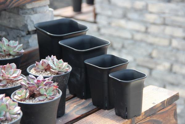 Pot de fleur en plastique de pépinière carrée ou ronde pour la maison, le bureau, le chevet ou le plancher, et la cour extérieure, la pelouse ou le jardin