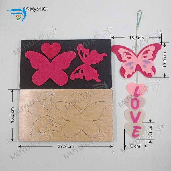 Papillon / MY5192 / moules en bois suspendus meurent accessoires coupe en bois Die Regola Acciaio Die Misura MY muyu