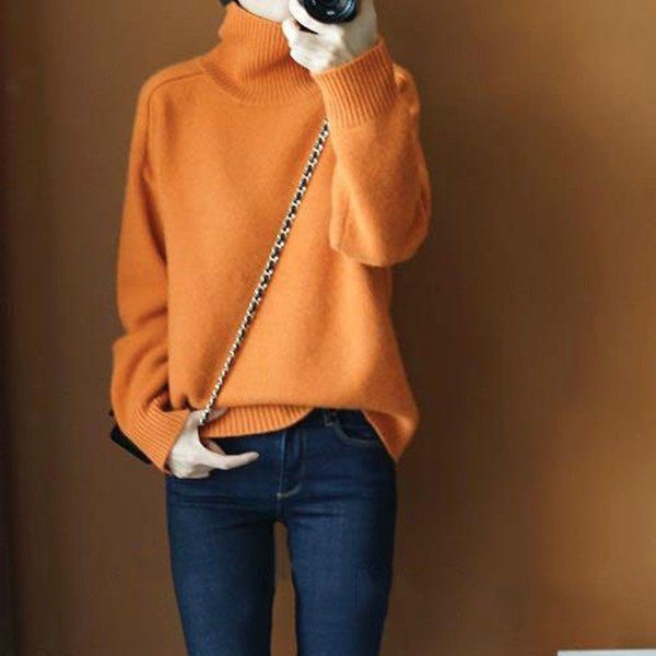 gejas ainyu autumn winter new women sweaters fashion 2018 women turtleneck cashmere sweater knitted pullovers plus size
