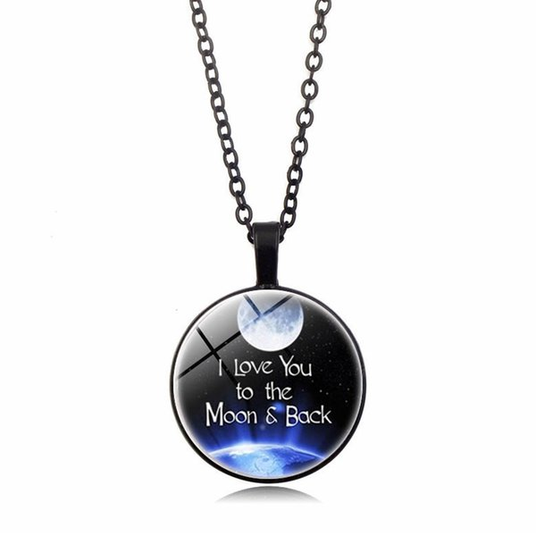Valentine's Day Romantic Gift Series Glass Dome Pendant Necklace European and American New Pendant Necklace Valentine's Day Gift for Lovers