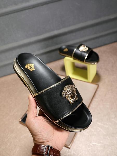 Gli uomini di modo 2019 devono avere sandali di parola di alta qualità di estate boutique di alta qualità