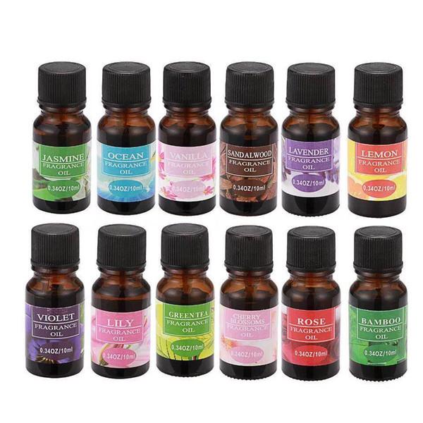 2019 Wholesale- 10ml/Bottle Pure Essential Oils Health Therapeutic Grade Aromatherapy