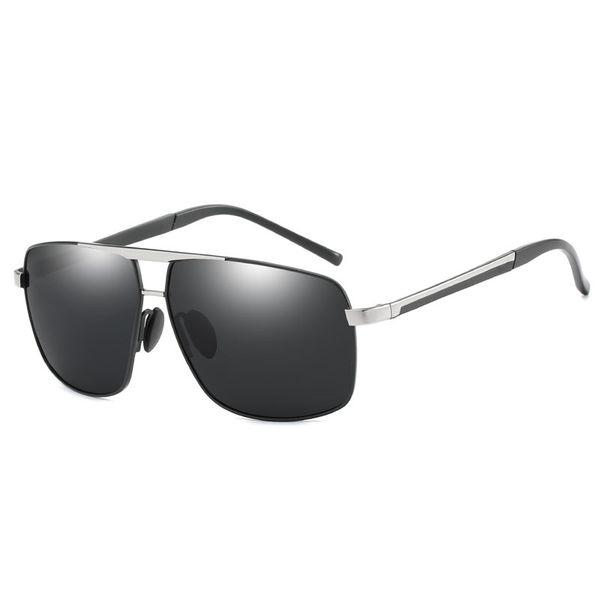 Black frame silver beam black gray piece