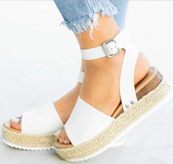 Sandali con zeppa Scarpe da donna Sandali tacco alto taglie forti Scarpe estive 2019 Infradito Chaussures Sandali con plateau Femmes 2019
