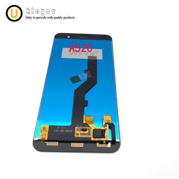 5pcs/lot For ZTE Blade A520 LCD Display and Touch Screen With Frame Assembly Repair Parts 5 Inch For zte a520 lcd
