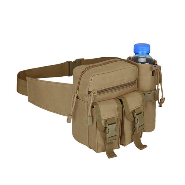 600D Nylon Men Tactical Travel Hiking Water Bottle Fanny Waist Bag Running Bag Sports #18