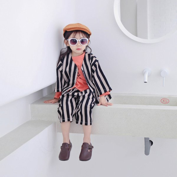 WNLEIGEL 2PCS boys girls striped clothing set kids fashion spring autumn suits baby new style clothes children 1-6 years
