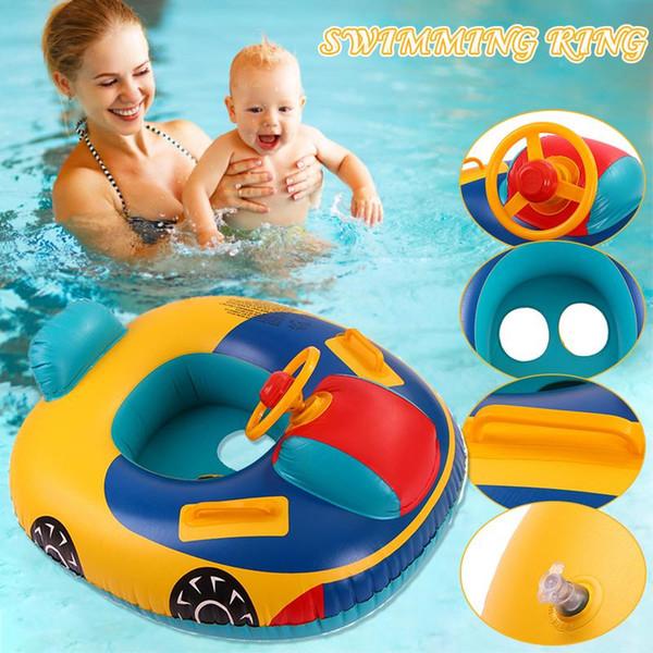Le bateau de natation gonflable d'été de siège flottant de baignade de vacances d'anneau d'anneau de bébé de bébé joue le tube de piscine d'eau PVC