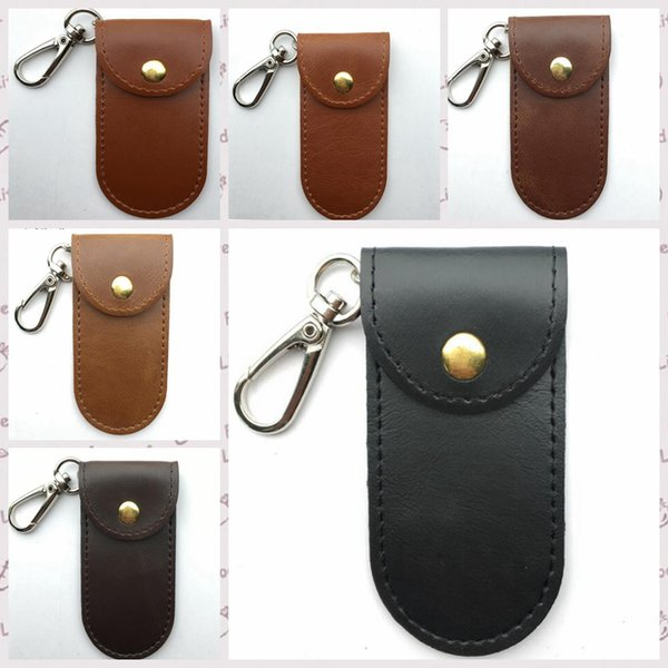 Loop Leather Sheath Knife Flashlight Holder U Disk Storage Case With Special Cover Portable Key Buckle Tool Pouch 8.5*4.5cm