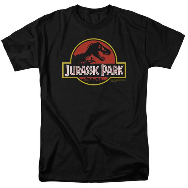 Camiseta clásica con logo del Jurassic Park Tallas S-3X NUEVO 2018 Nueva camiseta con estampado de camisetas para hombre Tops Camiseta corta de hip hop