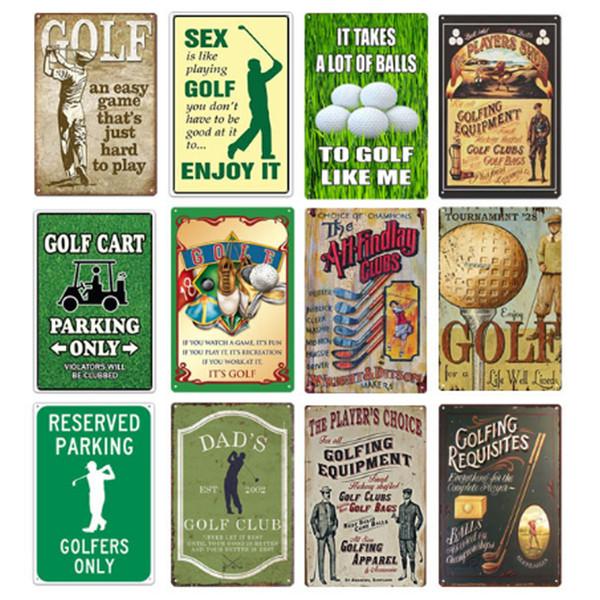20 * 30 cm Golf Club Jouer au golf En Métal Signes Métalliques Affiches Rétro Vintage Plaque En Métal Club Mur Accueil Art métal peinture Mur Décoration Art Photos