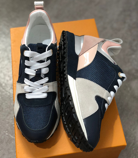 2018 neue Luxus Leder Freizeitschuhe Weibliche Designer Sportschuhe Herren Schuhe Leder Mode Leder Mischfarbe Freizeit -2