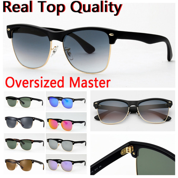 designer sunglasses for big face with glass lenses men women des lunettes de soleil leather case, package, accessories, box, everything!