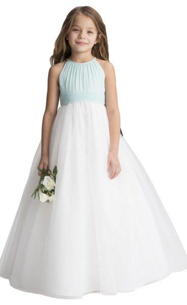 Encaje cortos blanco dulce correas de tul / / rodilla vestidos de flores niña vestidos de fiesta de cumpleaños de los vestidos por encargo Tamaño 2-14 F131